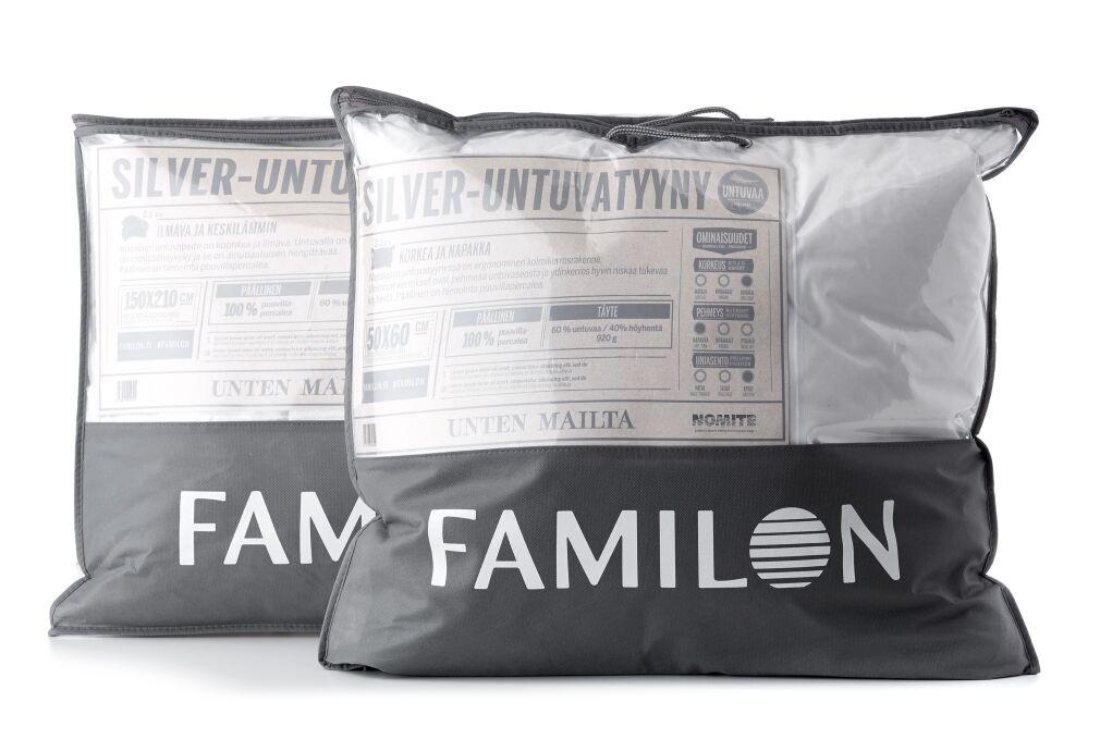Familon Silver -untuvatyyny korkea