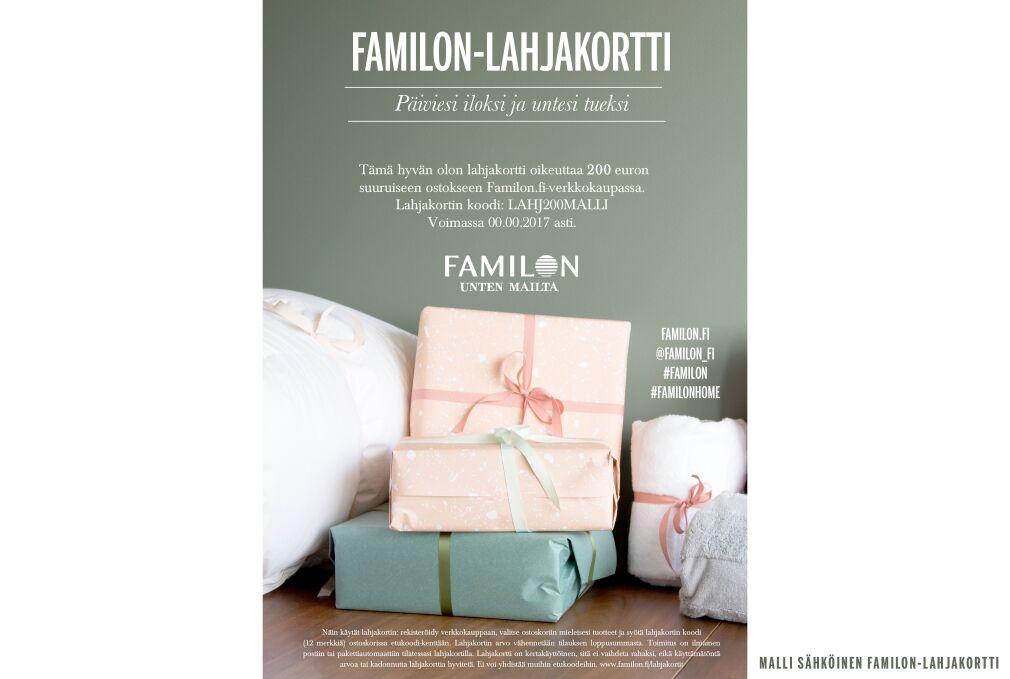 Familon-lahjakortti 200 euroa