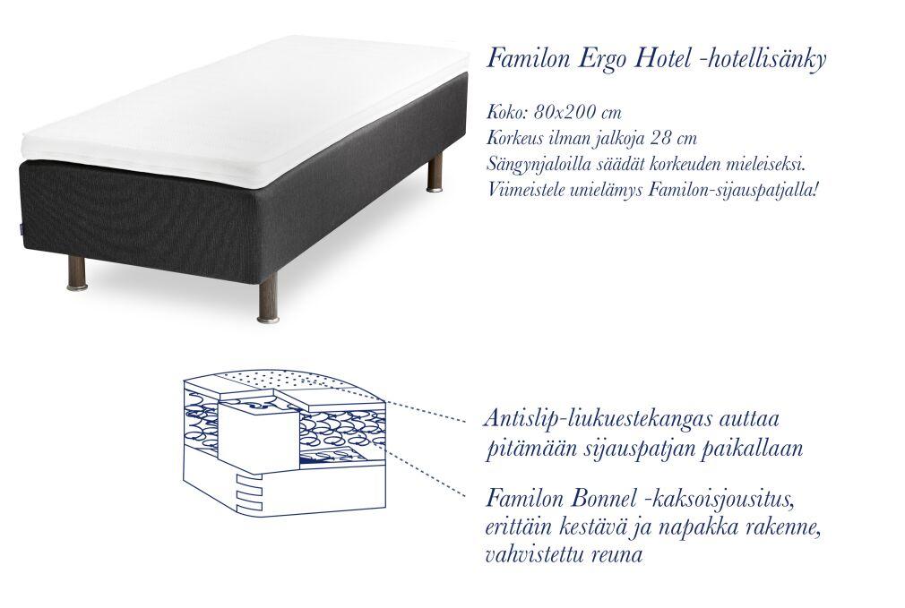 Familon Ergo Hotel -hotellisänky