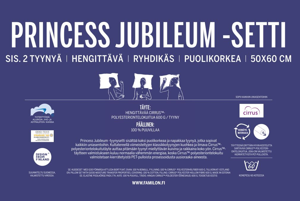 Familon Princess Jubileum -tyynysetti